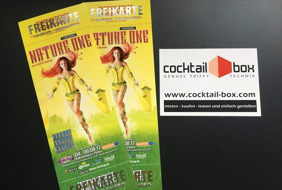 cocktail-box, die Cocktailmaschine und Cocktailbar - Nature One Festival - Freikarten 2017