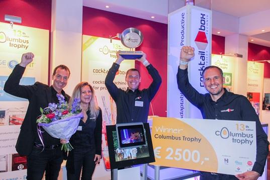 cocktail-box gewinnt europäischen Gründerpreis Columbus Trophy